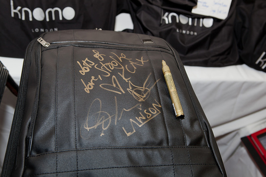 Celebrity-signed Knomo Suitcase