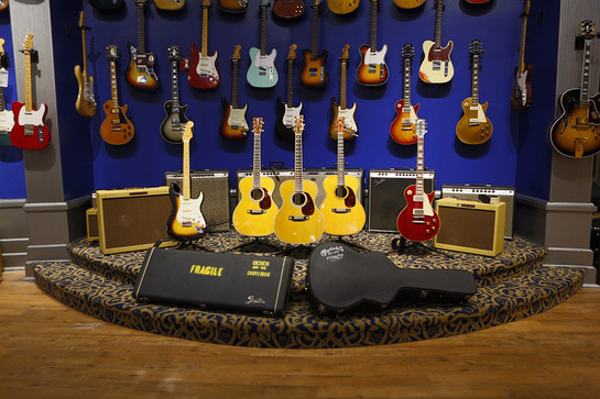 Guitar Center Presents The Eric Clapton Crossroads Guitar Collection Featuring Five Limited Edition Signature and Replica Guitars.