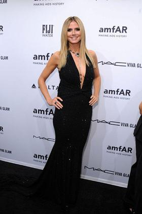 Heidi Klum at amfAR Gala in New York