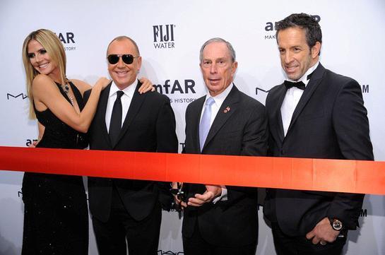 Heidi Klum, Michael Kors, Michael Bloomberg, Kenneth Cole