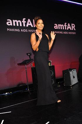 Janet Jackson at amfAR Gala in New York