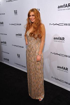 Lindsay Lohan at amfAR Gala