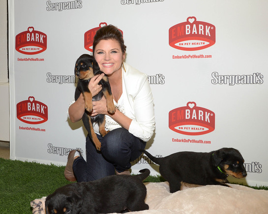 Actress and animal advocate, Tiffani Thiessen, visits the Bergen County Animal Shelter in Teterboro, NJ on Tuesday, February 5, to kick off Sergeant's Pet Care Products' emBARK on Pet Health campaign.