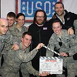USO Treats Troops To Die Hard Screenings