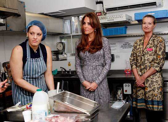 The Duchess of Cambridge meets women at Hope House in London