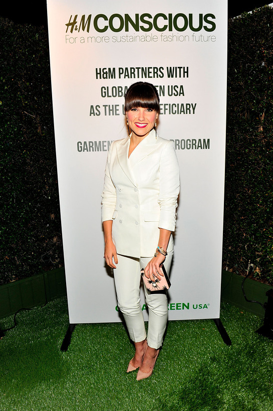 Sophia Bush wears H&M's Conscious Exclusive Collection at Global Green USA's 10th annual Pre-Oscar Party.