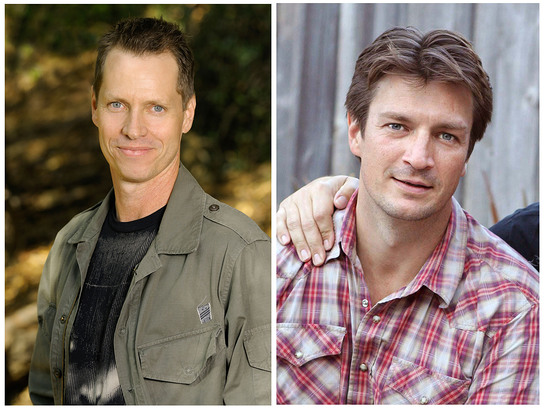 Frank Beddor on the Left, Nathan Fillion on the right.