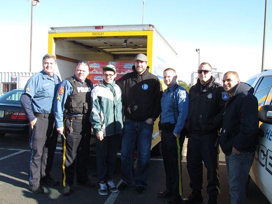 Herremans helps the first responders in in Seaside Heights, NJ.