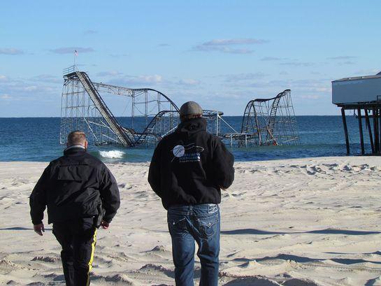 Todd Herremans visits hurricane-damaged NJ