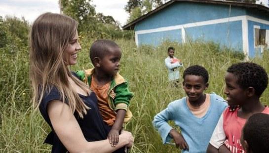 Hilary Swank Visits Ethiopia With UNICEF