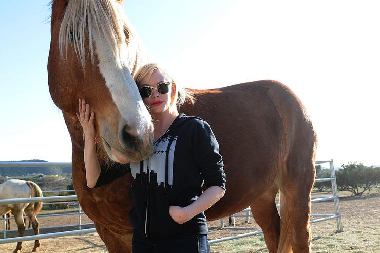 Rose McGowan Visits The Gentle Barn