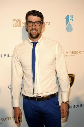 Olympic Gold Medalist Michael Phelps supports water conservation at One Night for One Drop.