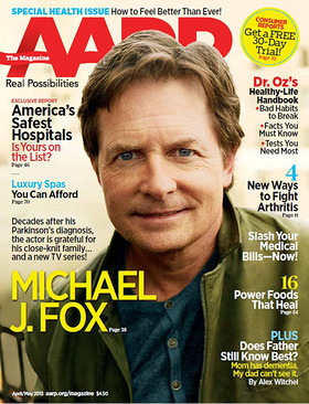 Michael J. Fox Speaks Candidly About His Health, Career and Family in the April/May Issue of AARP The Magazine.