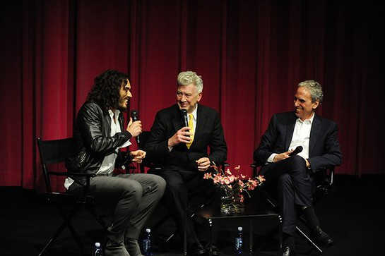 Russell Brand and David Lynch On Stage