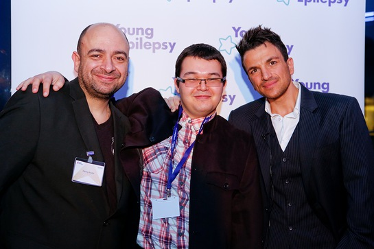 From left Danny Andre, Sam and Peter Andre
