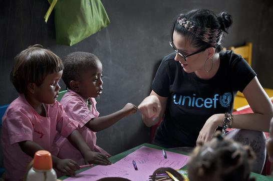 Katy Perry in Madagascar with UNICEF