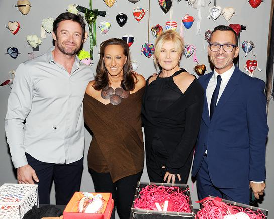 Hugh Jackman, Donna Karan, Deborra-Lee Furniss, Steven Kolb
