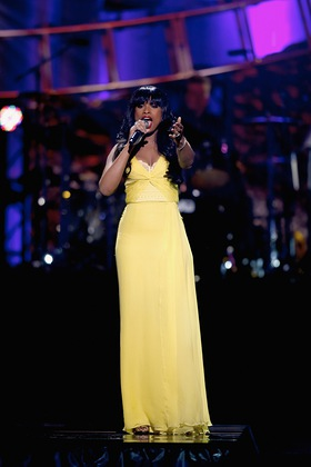 Jennifer Hudson performing at Keep Memory Alive's Power of Love Gala