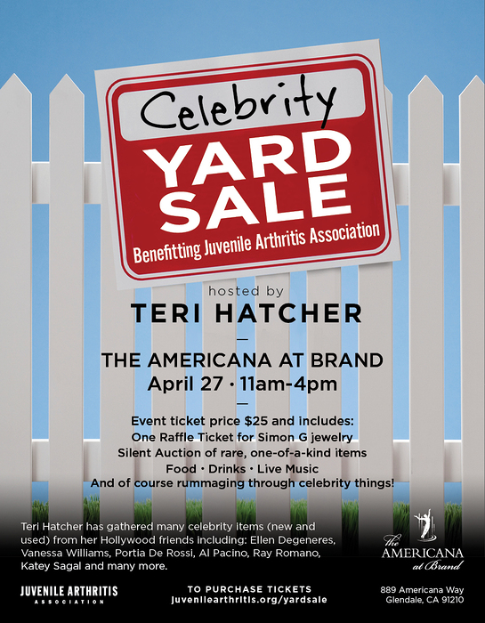 Teri Hatcher Celebrity Yard Sale