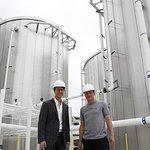 Edward Norton and Woody Harrelson Visit DPSG Wastewater Plant