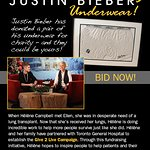 Bid On Justin Bieber's Underwear For Charity