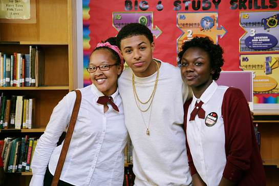 Diggy meets the students
