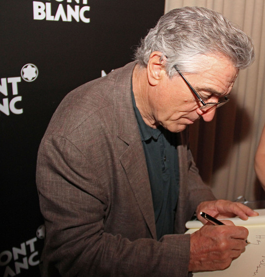Robert de Niro attends the Montblanc-powered Midnight Moment reception.
