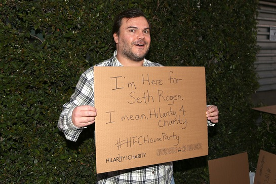 Jack Black at Hilarity for Charity