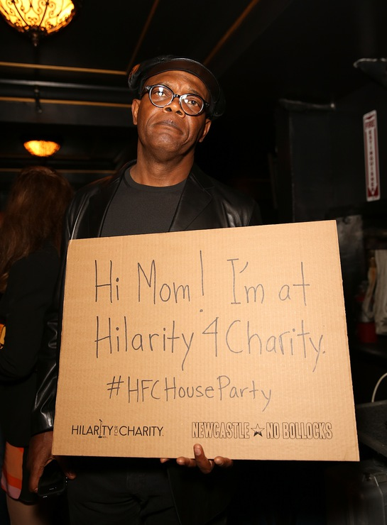Samuel L. Jackson at Hilarity for Charity