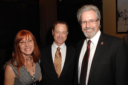 Gary Sinise with Jonathan Flora and Deborah Flora