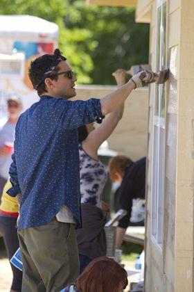 John Mayer Helps Build Houses
