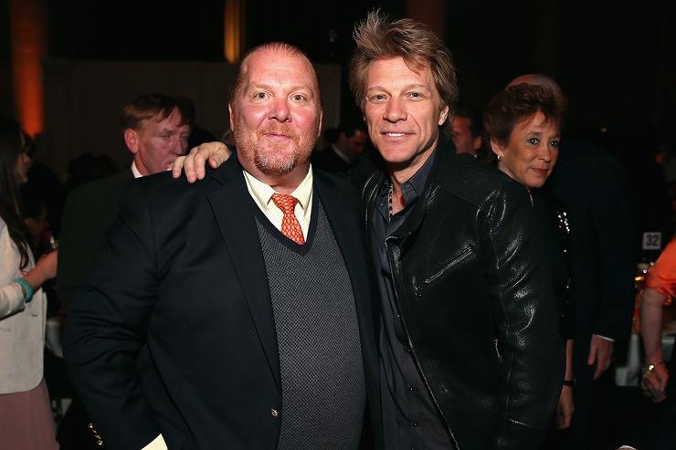 Mario Batali and Jon Bon Jovi