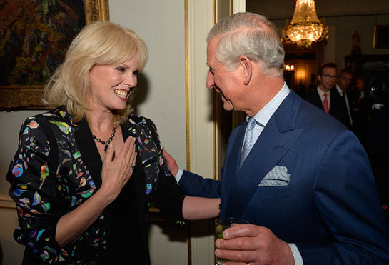 Joanna Lumley and Prince Charles