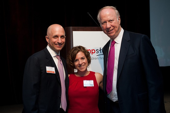 Rob Small, Naila Bolus and David Gergen
