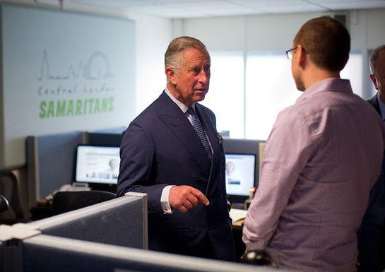 Prince Charles Visits The Samaritans