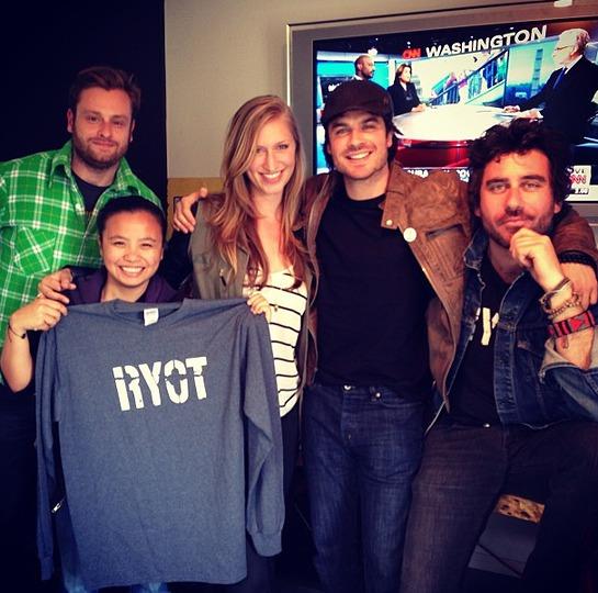 Ian Somerhalder With RYOT Staff
