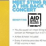 Meet Sting Backstage And Help Charity