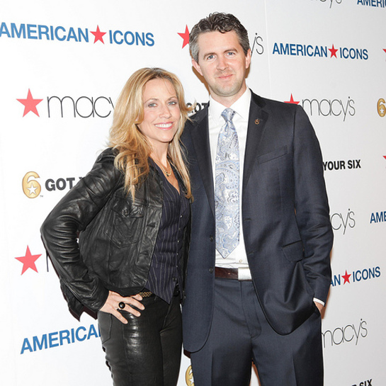 Sheryl Crow and Chris Marvin, Managing Director of Got Your 6, at the Macy's American Icons launch event