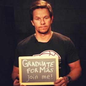Mark Wahlberg - Graduate for Mas