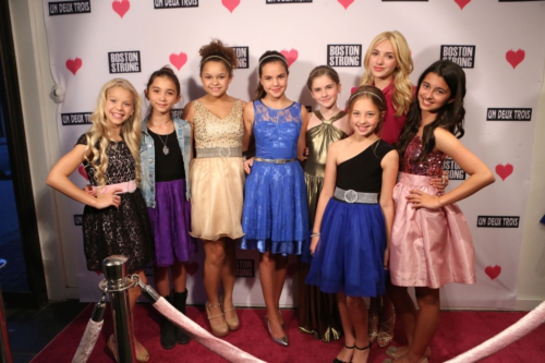 Young Hollywood raises money for Boston Marathon victims at girls fashion retailer Un Deux Trois in Beverly Hills, May 15, 2013.