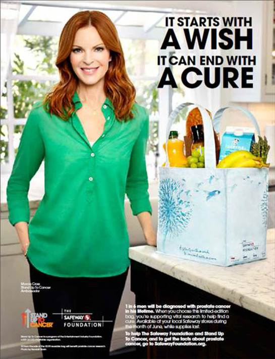 Marcia Cross Helps Raise Awareness and Funds in the Fight against Prostate Cancer