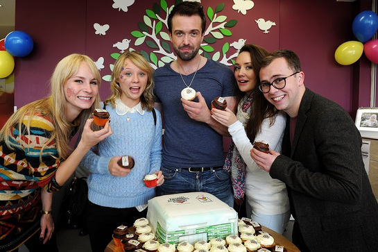 The Hollyoaks stars joined in the fun.