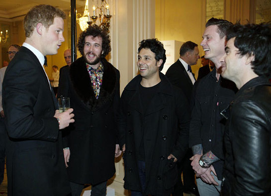 Prince Harry meets the Stereophonics at the Crystal Ball Gala Dinner