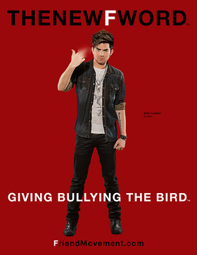 Adam Lambert Gives Bullying The Bird