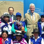 Bill Clinton Visits Colombia And Peru
