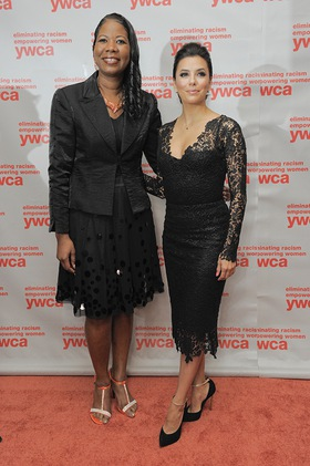 Dara Richardson-Heron, M.D., YWCA CEO and Eva Longoria, recipient of the 2013 YWCA Dorothy I. Height Racial Justice Award