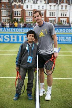 Elijah and Andy Murray