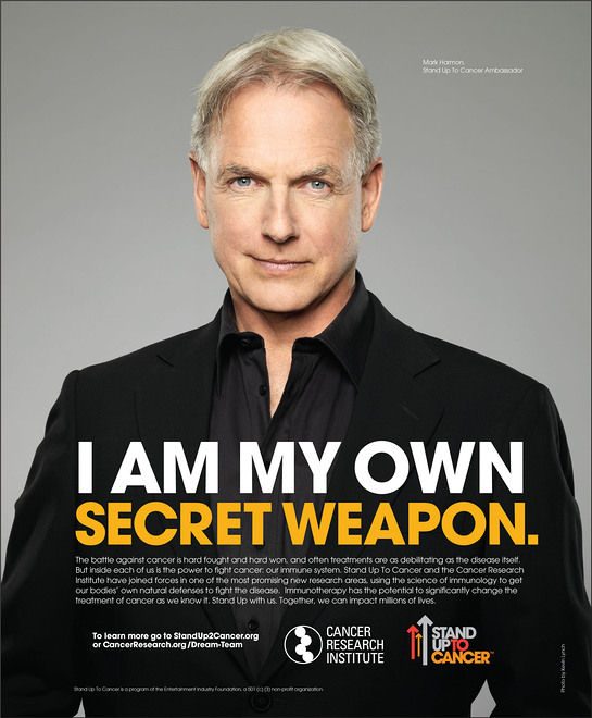 Mark Harmon in the new PSA with The Cancer Research Institute (CRI) and Stand Up To Cancer (SU2C).