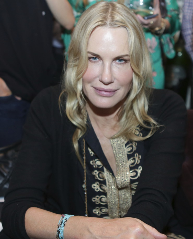 "Daryl Hannah looking fierce at the ""Disrupting Slavery"" charity event benefiting the Somaly Mam Foundation"