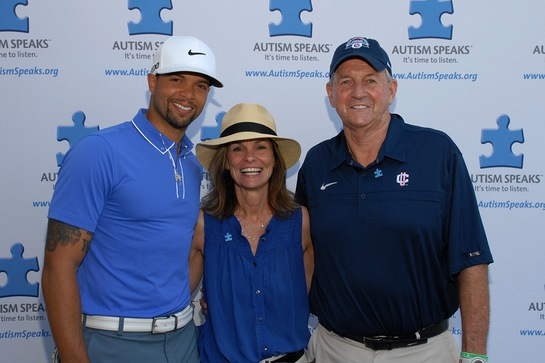 Deron_Williams with Autism Speaks President Liz Feld and Jim Calhoun
